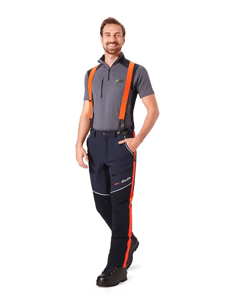 bretels voor bevestiging met knopen oranje 120cm Bild 2