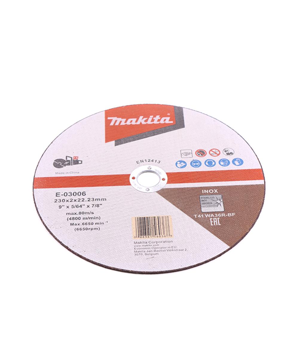 Makita doorslijpschijf 230 mm inox, 230 mm, XXE-03006